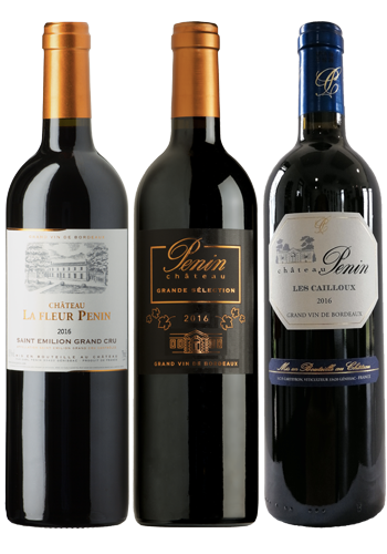 """Gamme de vins """"Les puissants"""" Château Penin"""