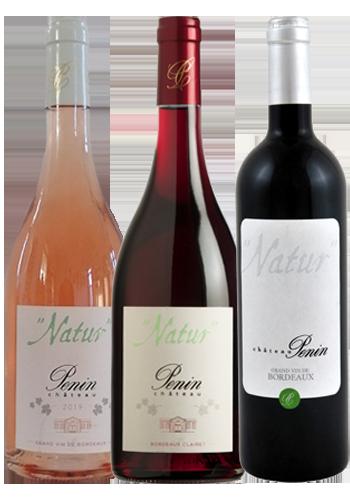 Gamme des vins Natur Château Penin